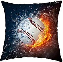 Rosy Wolken Baseball Ball on Fire und Wasser