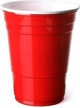 Rot, amerikanische Party-Becher, 455 ml/16 oz, 100