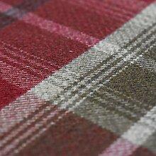 Rot Balmoral Wolle Effekt waschbar Dick Tartan Designer Stoff ideal für Vorhänge, Rolladen Light to Medium Polstermöbel Kissen und vieles mehr–Verkauft Meterware