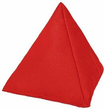 Rot Baumwollgewebe Dreieckige Jonglieren Sitzsack Garten Spiele PE Sport-