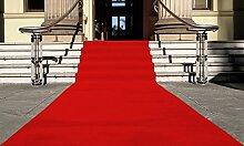 Rot Eventteppich VIP Carpet Läufer Teppich Empfangsteppich in Breite 1,5 m und Länge 12 m