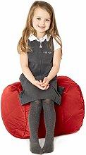 Rot, gesteppte, wasserabweisende rund Sitzsack