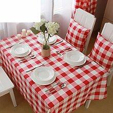 Rot karierten Tischdecke/ Picknick-Decke/ ländliche saubere Tischdecke/ Wohnzimmer-Tischdecke-A 130x180cm(51x71inch)