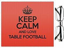 Rot Keep Calm und Love Tisch Fußball Objektiv Reinigungstuch Farbe 1415