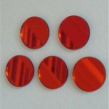Rot Kreis Spiegel 20cm x 20cm