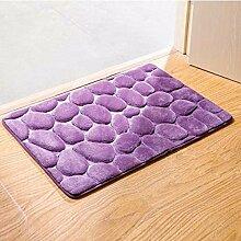 Rot: outad 3D Teppich und Teppiche 40* 60cm 3d Cobblestone Teppiche Teppiche für Wohnzimmer Rechteck Fußmatte Küche Badezimmer Matte