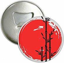 Rot Schwarz Japan Abstrakte Bürste Rund