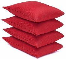 Rot, Wasser abweisender Stoff, Garten-Spiel, PE Sensory Jonglieren Sitzsack, 4 Stück