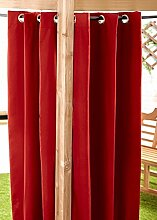 Rot Wasser bereit beständig, Made Outdoor Öse Vorhang 139,7x 182,9cm Pavillon Summer House