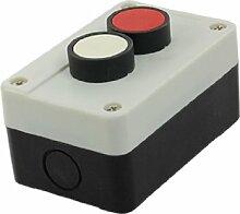 Rot Weiß Kopf Momentary Schalter Push Button Station Box