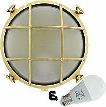 Rota 12W LED Messing wandstrahler Schiffslampe