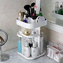 Rotationstisch Kosmetik Aufbewahrungsbox Badezimmer Regal Waschbecken Toilette Hautpflege Aufbewahrungsbox, blau