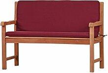 Rote Bankauflage Kanaria mit Rückenteil - 120 x