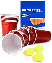 Rote Becher, Red Party Beer Pong Cups 16 oz. 473