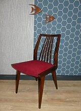 Rote Esszimmerstühle von Casala, 1960er, 3er Set