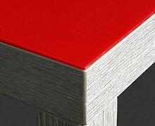 Rote Folie 2 mm Tischdecke rot Breite 90 cm, Länge wählbar, Schutzfolie Tischschutz Meterware (80 x 140 cm)