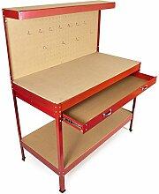 Rote Garagen DIY Industrie-Werkstatts-Werkbank für hohen Betrieb, Holzbearbeitungswerkzeuge-Aufbewahrung