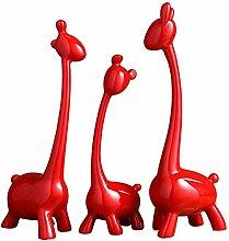 Rote Giraffen-Ornamente, Statue, einfaches