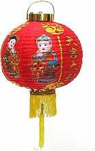 rote Lampion mit chin. Zeichen + Motive