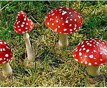 Rote Runde Fliegenpilz, Garten Deko aus Kunstharz