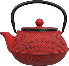 Rote Teekanne aus Gusseisen - Gusseisen - 17,5 x