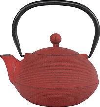 Rote Teekanne aus Gusseisen - Gusseisen - 17 x 15