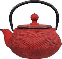 Rote Teekanne aus Gusseisen - Gusseisen - 600ml