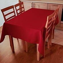 Rote Tischdecke für Weihnachten,