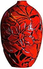 Rote Vase Chinesische Art Neue Hauptdekoration