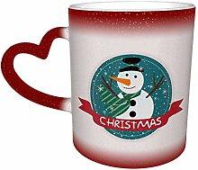 Rote Weihnachten Schneemann Farbe ändern