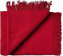 Rote Wolldecke aus 100% neuseeländischer