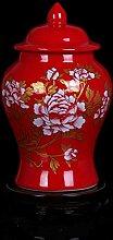 Roten Porzellan Blumenvase Antik Keramikplatten