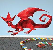 roter Drache Wandaufkleber Spaß Monster Wandtattoo Jungen Schlafzimmer Wohnkultur Erhältlich in 8 Größen Extraklein Digital