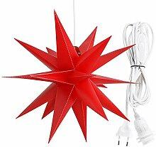Roter Faltstern Adventsstern Weihnachtsstern mit