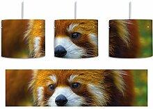 Roter Pandabär auf Ast inkl. Lampenfassung E27,