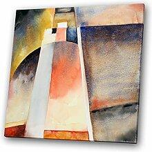 Roter Platz modernes abstraktes orange Aquarell