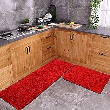Roter Teppich für die Küche, zotteliger