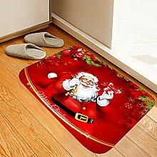 Roter Weihnachtsmann-Teppich, rutschfest,