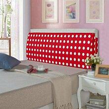 Rotes Kopfkissen am Bett / großes Kissen mit Dreiecksbezug / Kissen mit weichem Kissen / waschbares Kissen / Pack Bett Kopf Rückenlehne / Sofa mit großer Rückenlehne ( größe : 150*50*12cm )