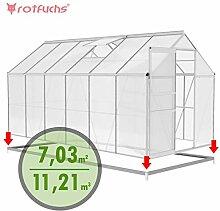 Rotfuchs® Aluminium Gewächshaus 13,03 m³ - 4,30
