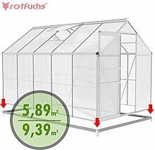 Rotfuchs Aluminium Gewächshaus 9,39 m³ - 3,10 x