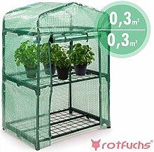 Rotfuchs® Foliengewächshaus mit Regalen 0,3 m³