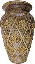 Rotfuchs® Tonvase Blumenvase aus Ton 20 cm hoch