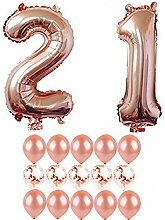 Rotgold Geburtstag Party Dekorationen Happy