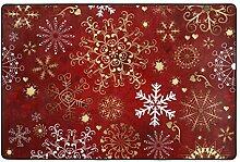 Rotgold Herz Schneeflocken Weihnachten Teppiche