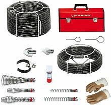 Rothenberger - Rohreinigungsset Spiralen+Werkzeuge