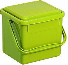 """Rotho 1770505519 Komposteimer Bio, Abfallbehälter für die Küche aus Kunststoff mit Geruchsdichtem Deckel in Hellgrün, Biomülleimer mit 4,5 L Inhalt, circa"""" 21 x 20 x 18 cm Komposteimer, Plastik"""
