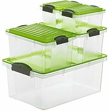 Rotho Compact 5er-Set Aufbewahrungsbox mit Deckel