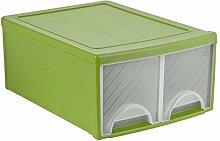 Rotho Frontbox Schubladenbox mit 2 Schubladen,