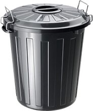 Rotho Mülltonne BASIC, 25 Liter, Mülleimer mit